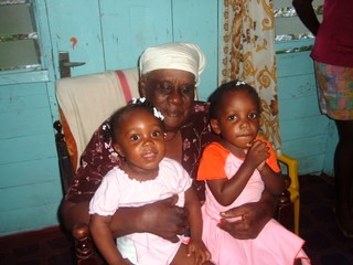 late grandma Mammy with kids in beeston spring, westmoreland