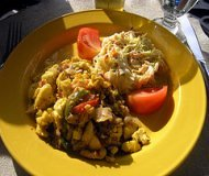 Jamaican Food: Ackee and Saltfish Dish