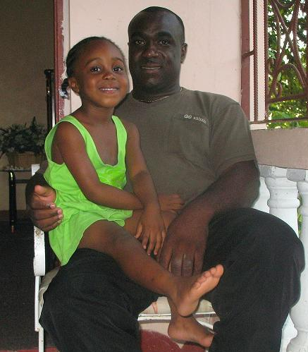 My Daughter Leah & I at home, October 2008