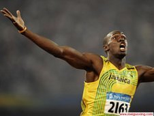 usain bolt olympic hero