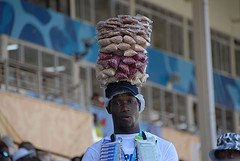 A peanut Vendor at Sabina Park