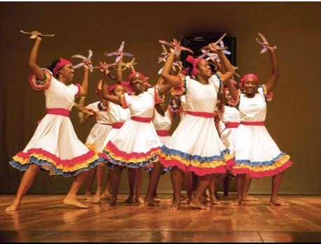 campion college students doing traditional jamaican dance