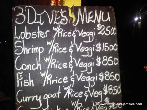 3 Dives Jerk Center Menu