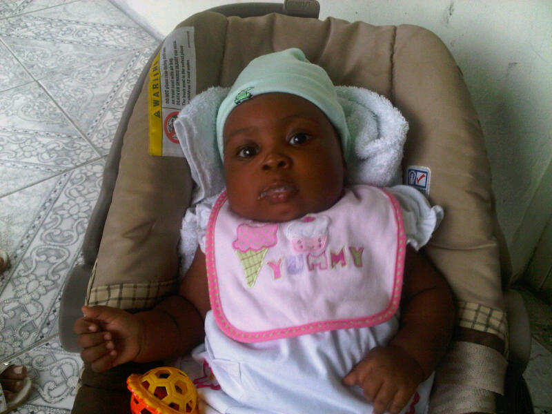 Aliana Gayle at 3 month old