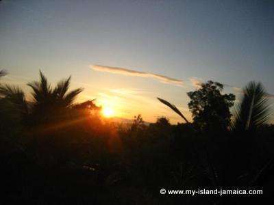 Sunrise in Jamaica