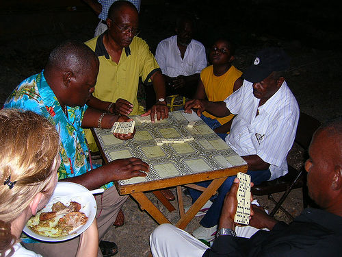 Jamaican People - Playing Domino