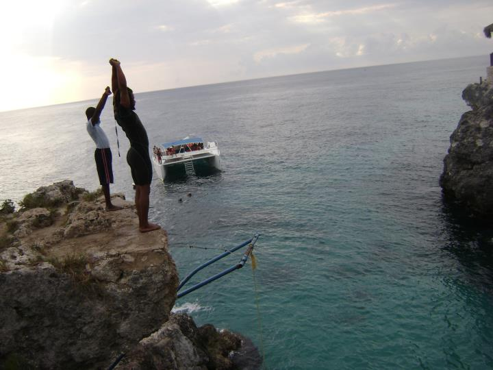 Cliff Jumping in Negril
