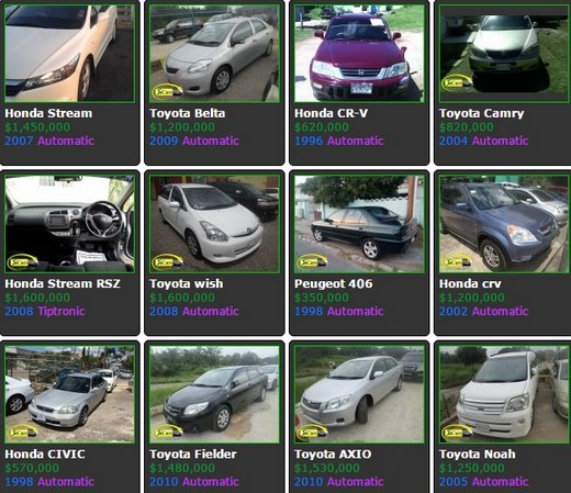 listing of cars for sale in jamaica