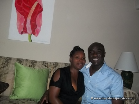 wellesley and wife omeil at fdr resort jamaica