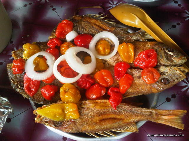 jamaican fried fish, border style