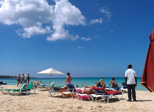 jamaican climate - on beach