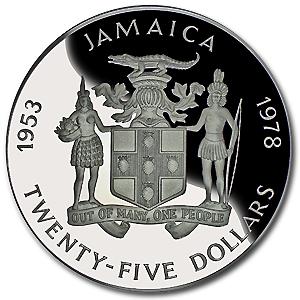 Jamaican 1978 25 Dollars Back Souvenir