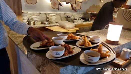 Sandals_MontegoBay_finger_foods_at_sushi