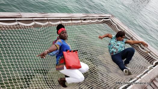 Sandals_MontegoBay_naomi_and_christine_over_water_hammock