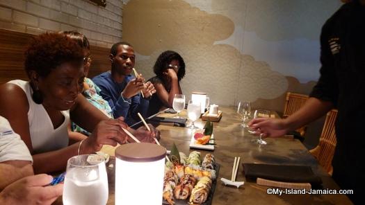 Sandals_MontegoBay_team_jamaica_eating