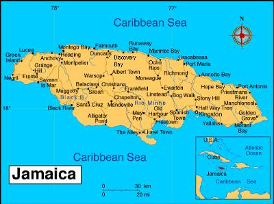 <font size=1>Detailed Map of Jamaica</font>