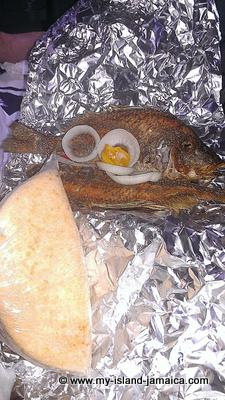 Jamaican Fried Fish and Bammy