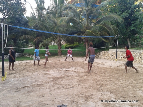 activities_at_blue_hole_mineral_spring_jamaica_volleyball