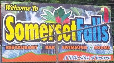 Sommerset Falls In Portland Jamaica