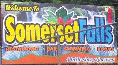 Sommerset Falls In Portland Jamaica