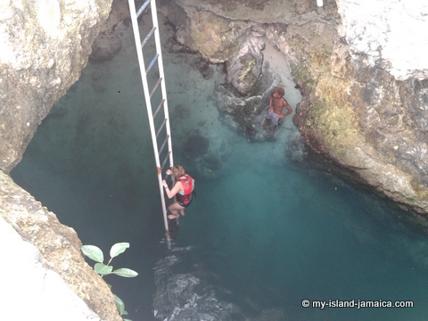 attractions_in_negril_jamaica_Blue_Hole_Mineral_Spring_Hole