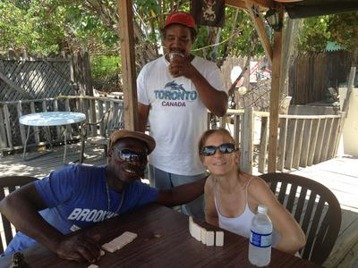 Dominoes With Friends At Port Royal In Jamaica