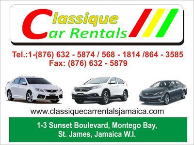 Private Car Rental In Montego Bay Jamaica