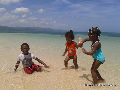 Kids Playing In Sand At Dead End Beach