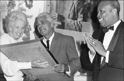 Dr. Lecky receiving norman manley award<br><font size=1>Source:http://caribbean-icons.org</font>