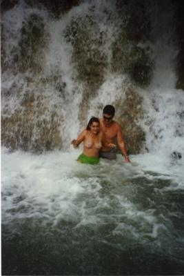 Jim & Leta Dawson at Dunn's River  Falls