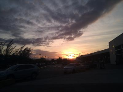 Dusk at Mobay Airport