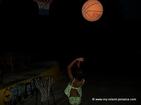 my daughter playing basketball