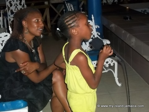 karena gayle (leah) singing karoake at fdr resort jamaica 2012
