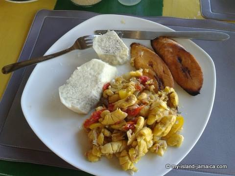 Food from Jamaica-Jamaican breakfast