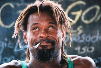 Rasta man with a doubie-what a cute look-Negril