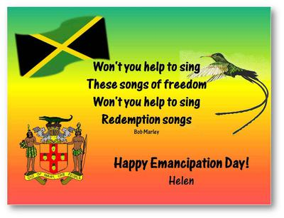 Happy Emancipation Jamaica