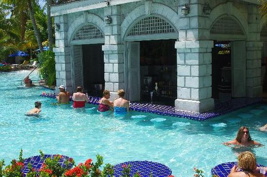 Swim Up Pool Bar at Rose Hall Resort Jamaica
