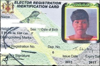Image result for Voter's ID jamaica