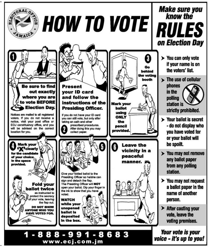 how to vote in jamaica - the old way