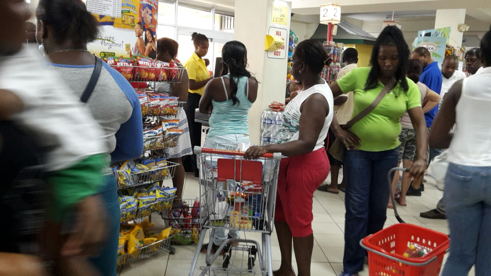 supermarket lines in jamaica