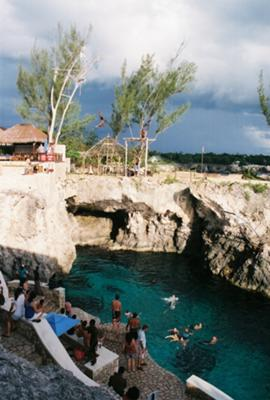 Cliff Jumping at Rick's Cafe