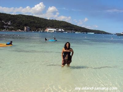 At Jamaican beach