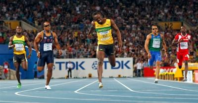 Usain Bolt Winning Men's 200m Final in Daegu - 2011