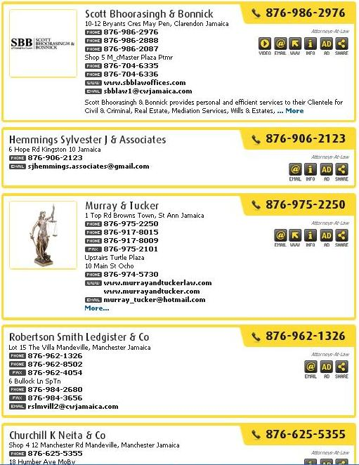Jamaica Attorney Directory