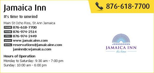Jamaica Inn Contact Information