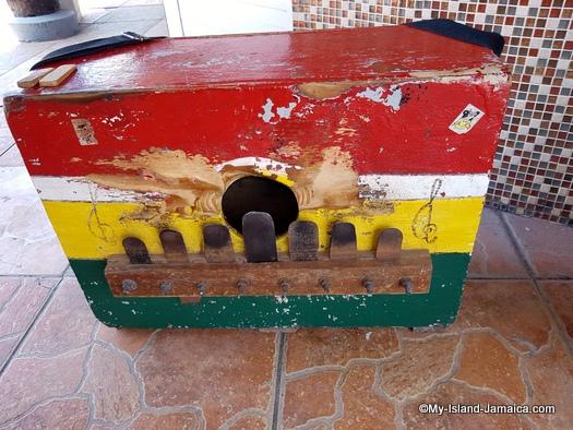 traditional jamaican instruments -rhumba box