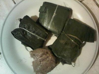 Traditional Jamaican Duckunoo (Blue Draws or Tie-A-Leaf)