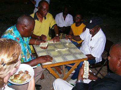 Playing Dominoes - part of the Jamaican Lifestyle