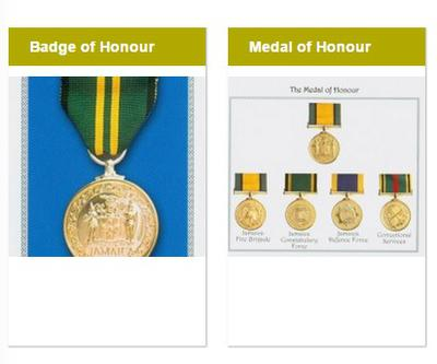 Jamaica Medals Of Honour