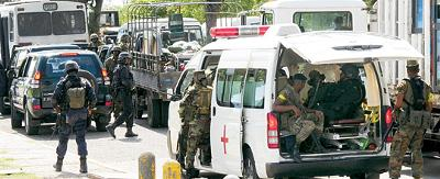 Operation in Tivoli - West Kingston Jamaica<br><font size=1>A Jamaica Observer Photo</font>